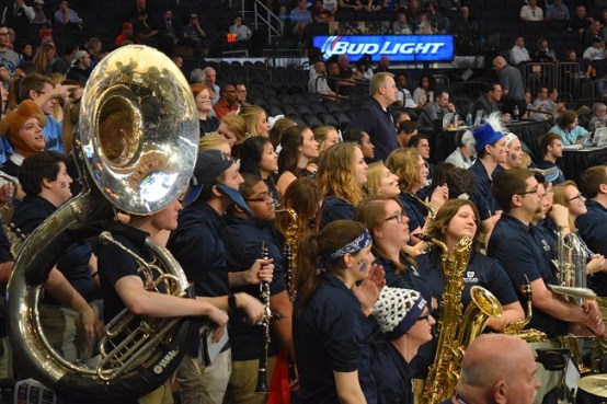 (Credit: Barry Holmes/PureSportsNY) Not even the rowdy Butler band could propel the Bulldogs past Providence.