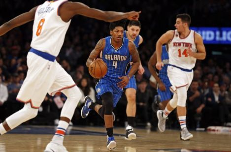 (Photo Credit: Adam Hunger-USA TODAY Sports) Elfrid Payton hurt the Knicks by pressing the issue off turnovers.