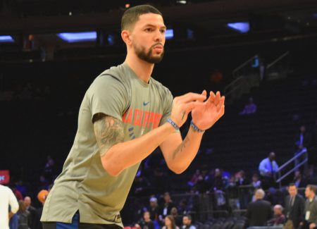 (Photo Credit: Barry Holmes) New York held Austin Rivers to just two points (1-9 FG)