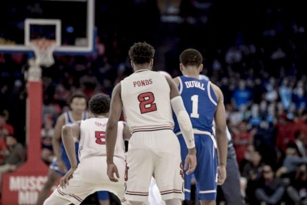 The St. John's Red Storm went to war with the Duke BlueDevils at the Garden. Photo Credit OvertimeTae.