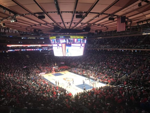 The Garden was sold out to watch St. John's vs Duke. Photo ATH