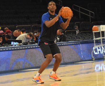 (Photo Credit: Barry Holmes/PureSportsNY) Damyean Dotson has won over Knick faithful with his work ethic on both ends of the floor.
