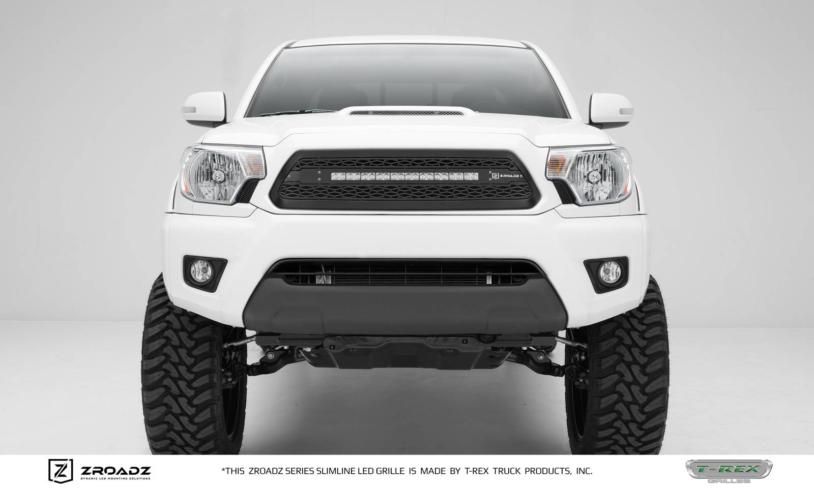 hight resolution of toyota tacoma zroadz series main insert grille w one 20 inch slim line single row led light bar includes universal wiring harness