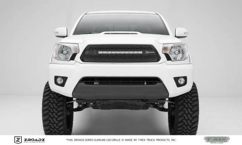small resolution of toyota tacoma zroadz series main insert grille w one 20 inch slim line single row led light bar includes universal wiring harness