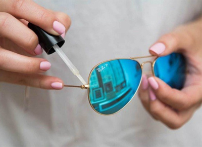 Image result for NAIL POLISH CAN TIGHTEN THE ARMS OF SUNGLASSES