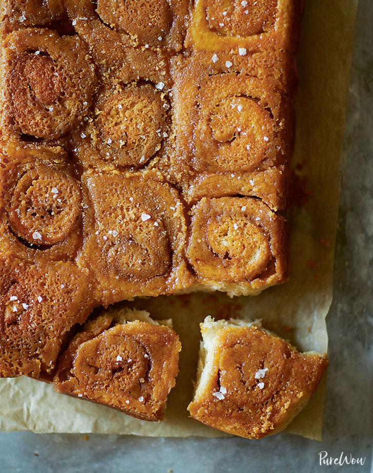 swedish cinnamon buns topped