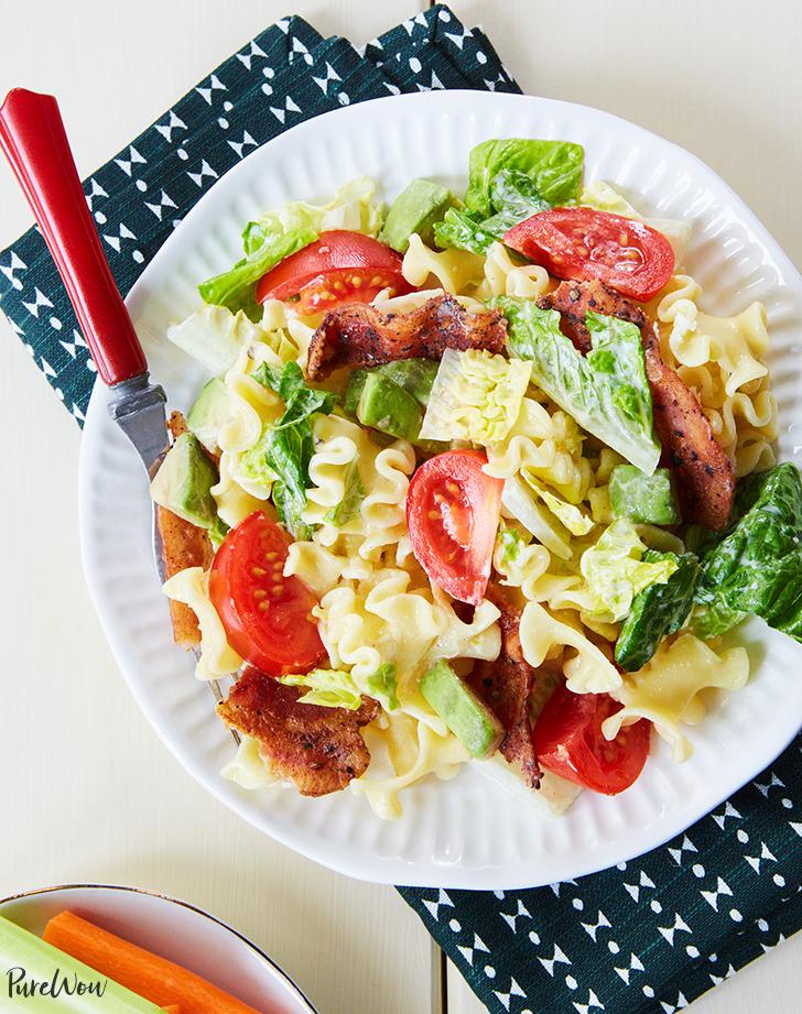 blt pasta salad recipe hero