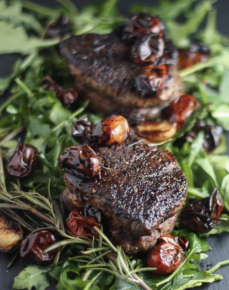 filet mignon with balsamic tomatoes recipe