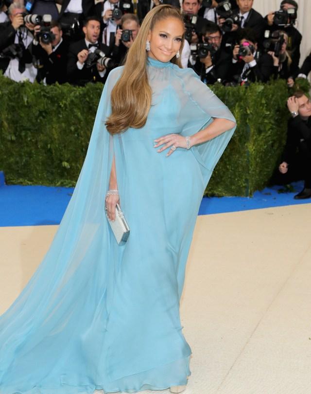 Jennifer Lopez blue Valentino Met Gala