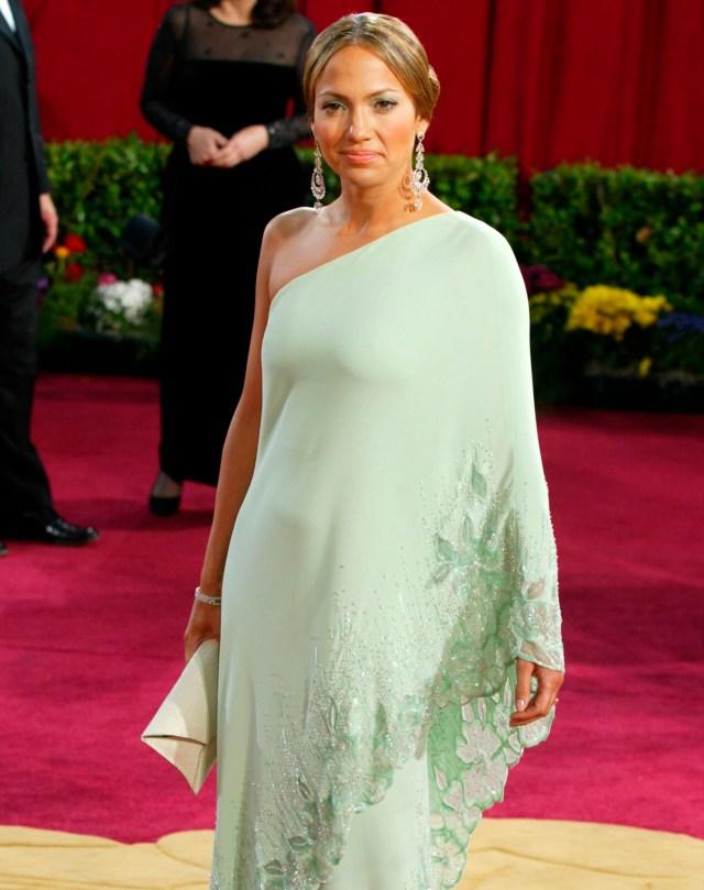 Jennifer Lopez green Valentino gown