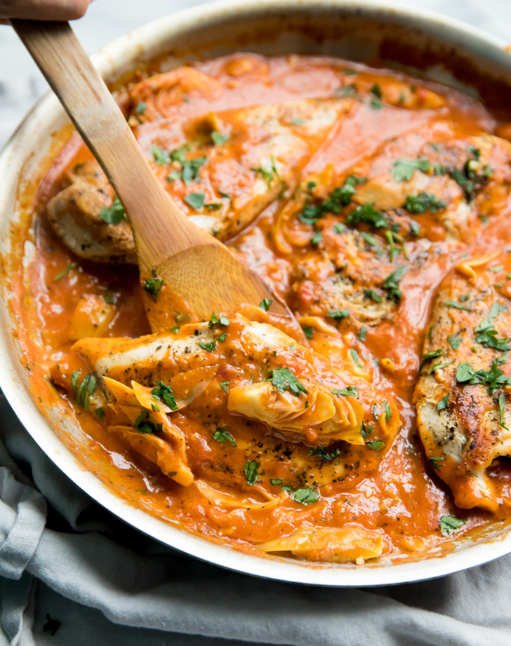 creamy tomato artichoke chicken recipe