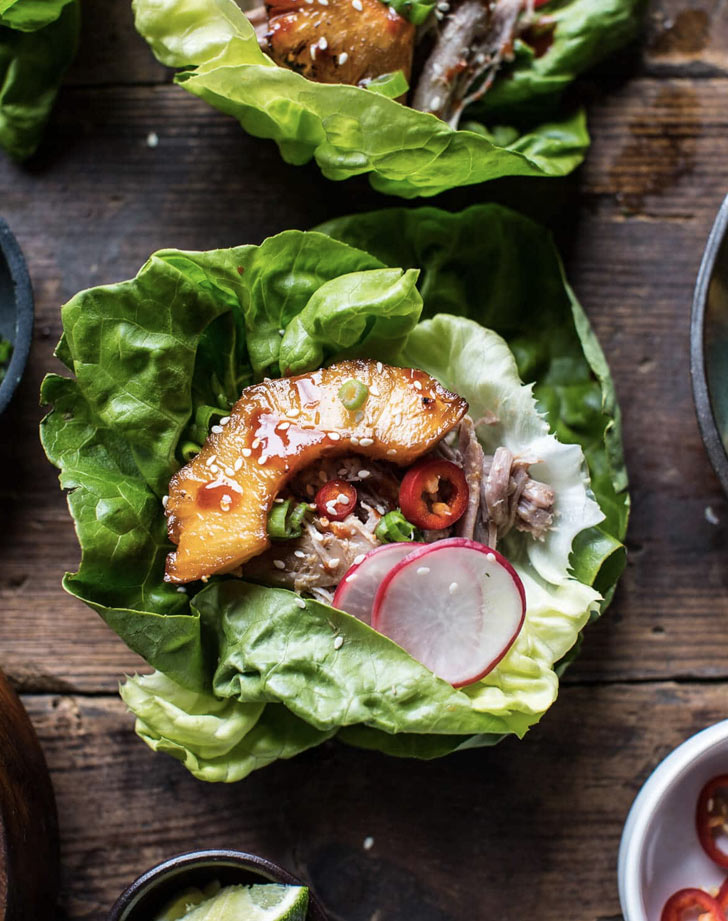 korean pineapple pork lettuce wraps recipe