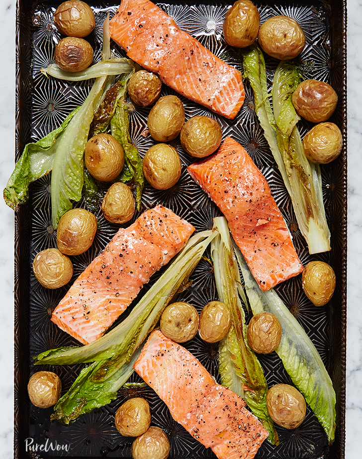 one pan roasted salmon with potatoes recipe
