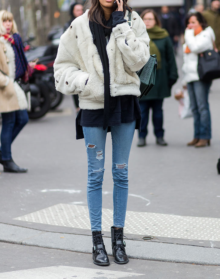 flat ankle boots skinny jeans