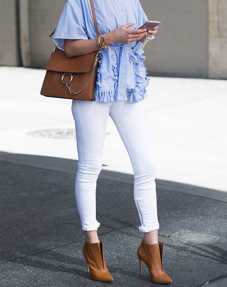 white skinny jeans ankle boots