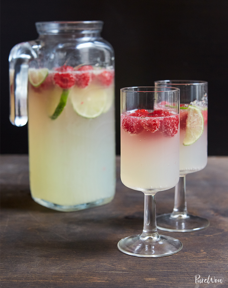 Raspberry Lime Champagne Punch