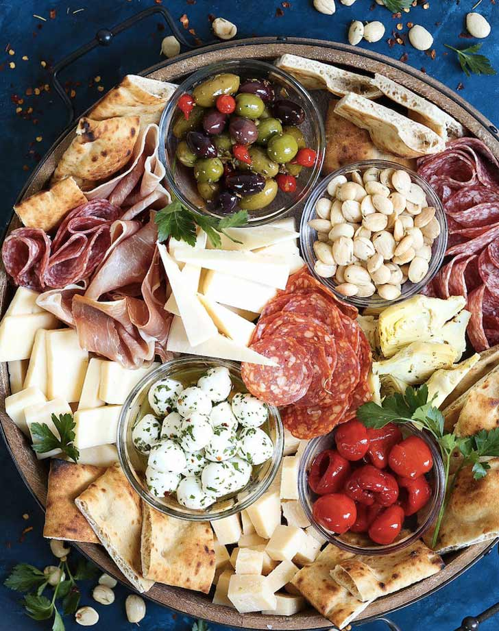 antipasto appetizer cheese board