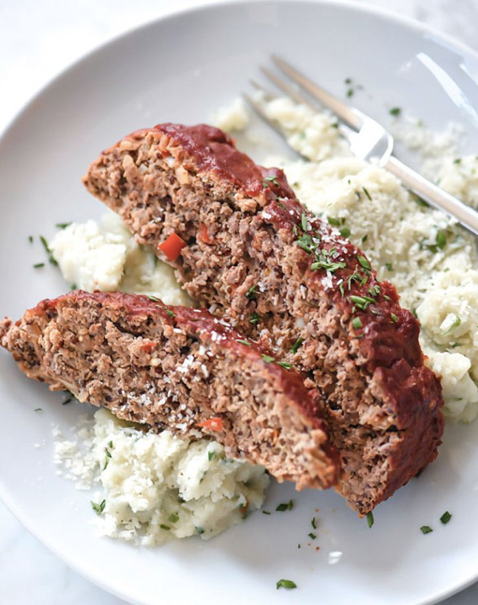 healthier meatloaf with tomato glaze recipe