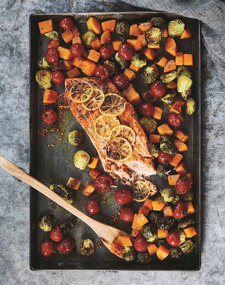Honey Mustard Sheet Pan Salmon