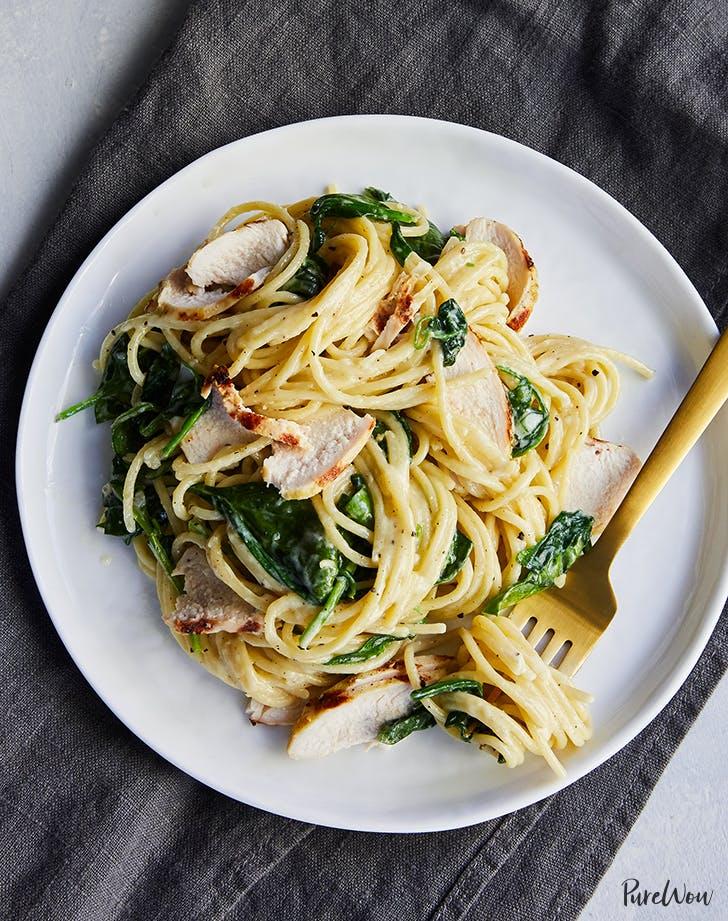 Pasta Florentine with Grilled Chicken