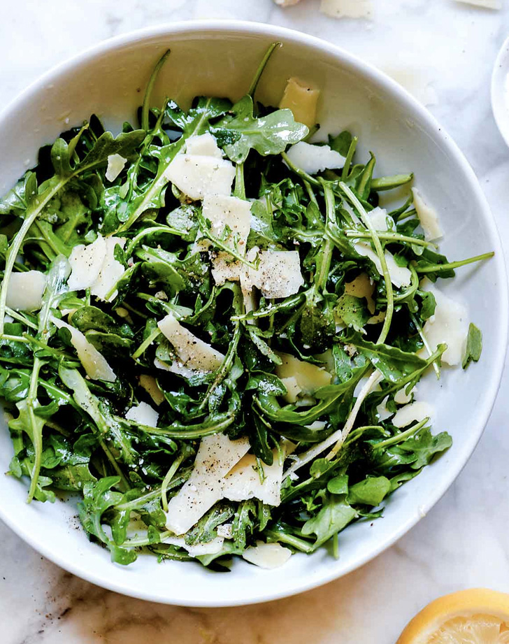 arugula salad with shaved parmesan three ways recipe