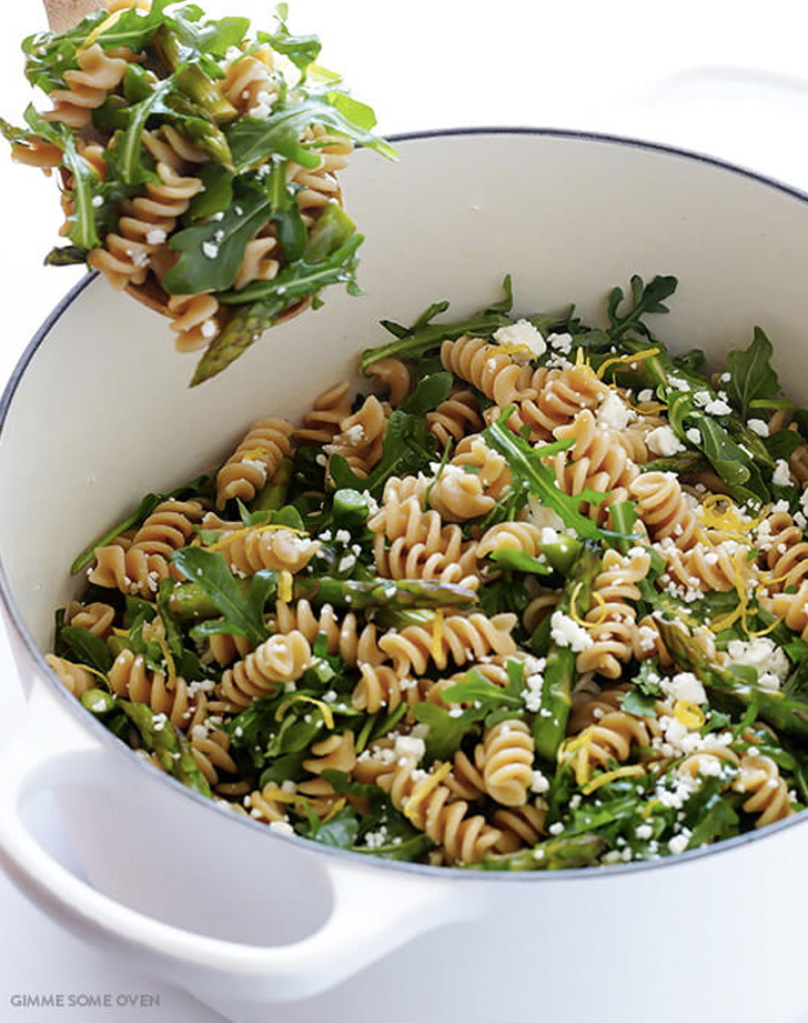 asparagus and arugula pesto salad recipe