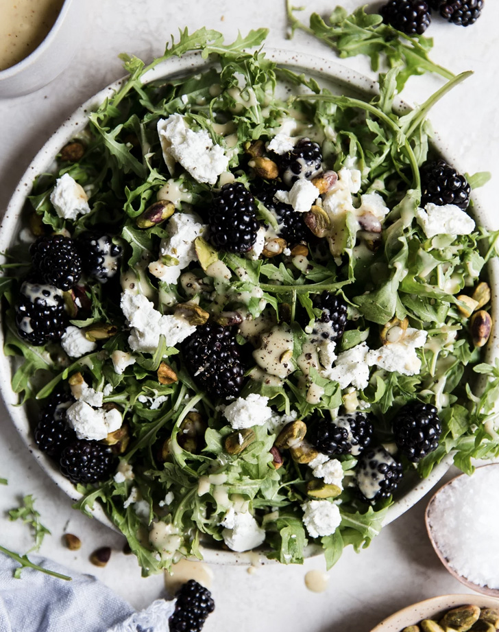 blackberry goat cheese salad recipe
