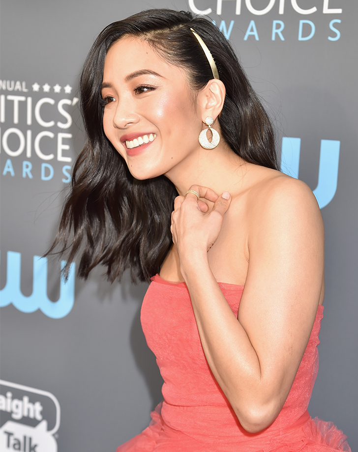 constance wu half up half down hairstyles