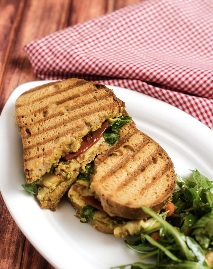 pesto panini with arugula avocado and sun dried tomato recipe