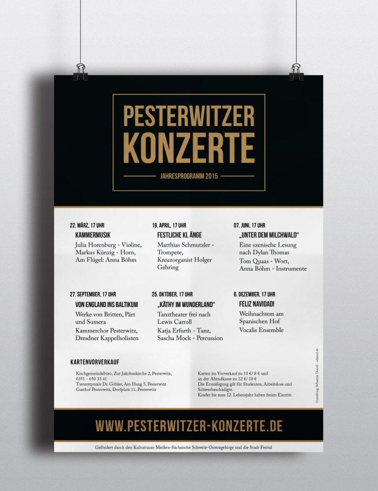Plakat Jahresprogramm 2015 Pesterwitzer Konzerte