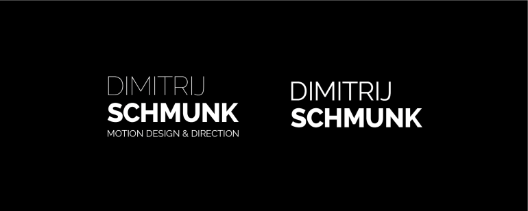 Logo Dimitrij Schmunk - Motion Design & Direction - Wortmarke II