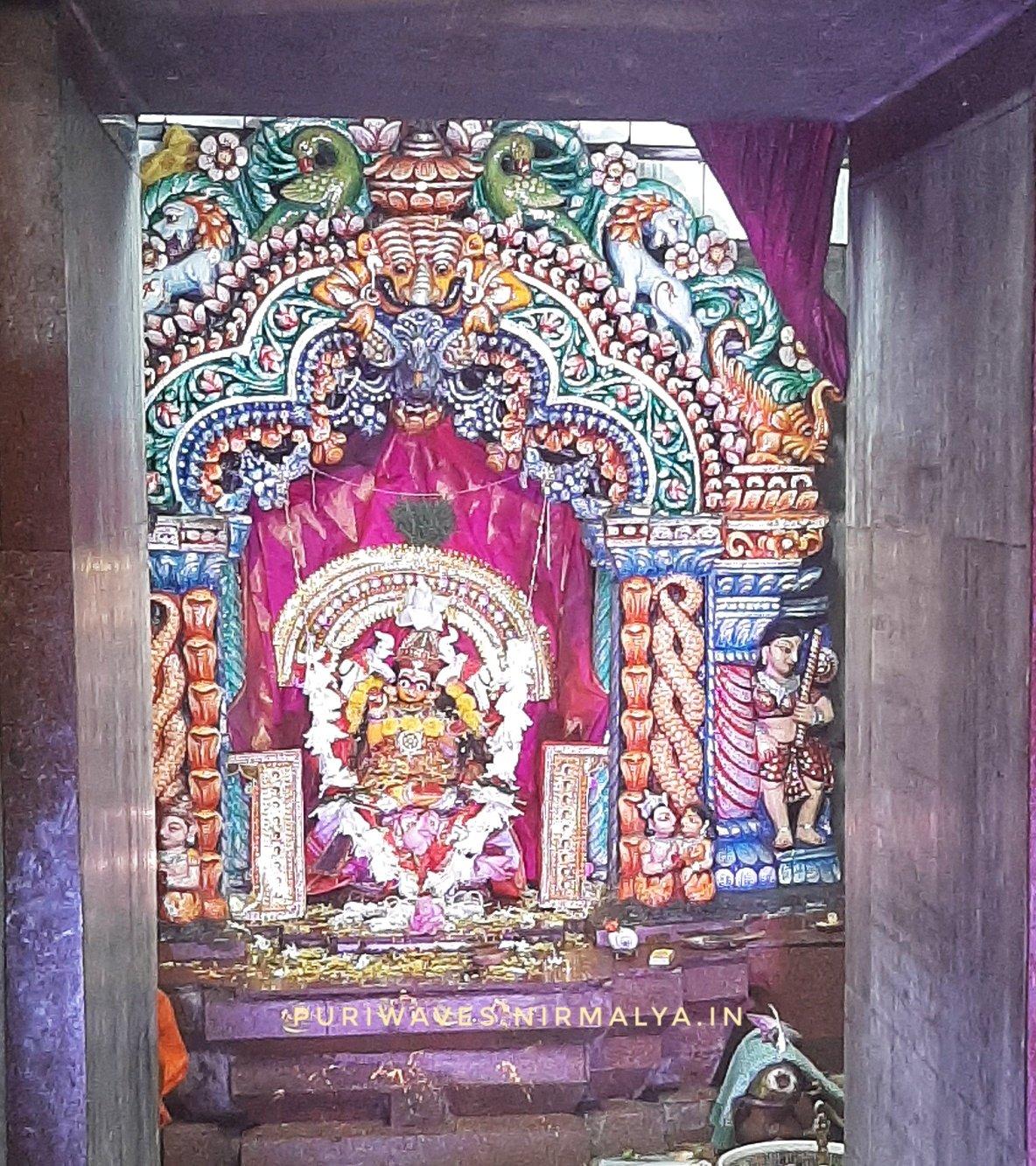 ଗଜଲକ୍ଷ୍ମୀ ବେଶ Gajalaxmi Besha of Marchi Goddess