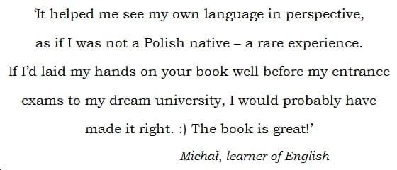 I Have Twenty Fingers: ...and 159 other common Polish-English Errors, by Matt Purland - quote 3