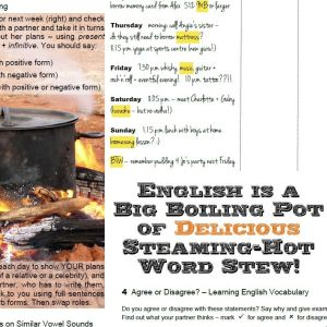 English is a Big Boiling Pot of Delicious Steaming-Hot Word Stew! – FREE Worksheet Pack