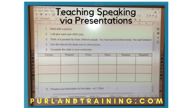 Teaching Blog: Choosing Presents - Pair Presentations