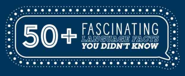 50+ Fascinating Language Facts You Didn't Know (FREE Infographic)