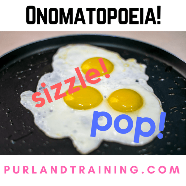 Cooking Sounds – Onomatopoeia