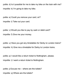 Polite or Impolite Sentences – Buying a Ticket at the Train  StationPurlandTraining.comLearn English for free! [ 2402 x 1127 Pixel ]