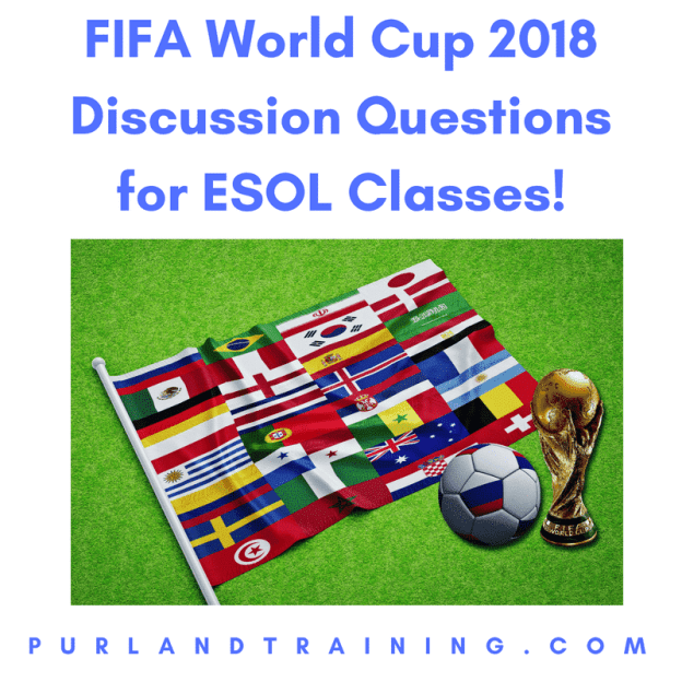 FIFA World Cup 2018 - Discussion Questions for ESOL Classes!