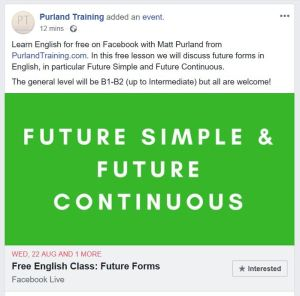 Join Matt for a FREE English Grammar Class on Facebook Tomorrow!