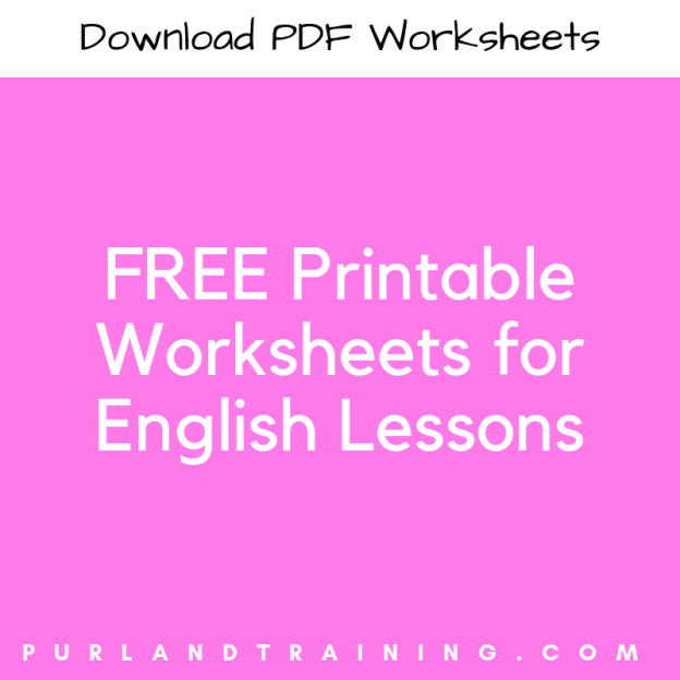 Free Printable Worksheets for English Lessons