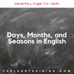 Practice Days, Months, and Seasons in English