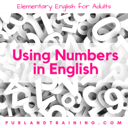 Using Numbers in English