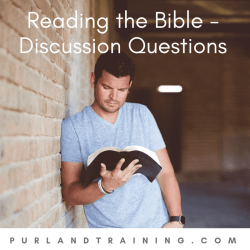 Reading the Bible – Discussion Questions