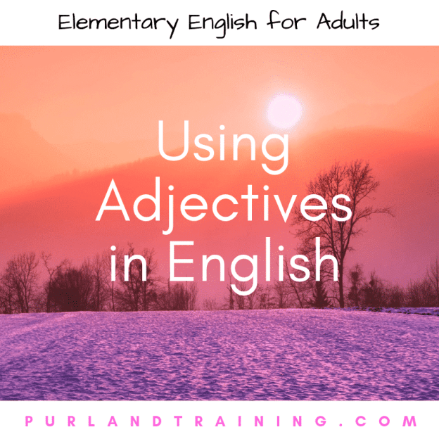 Using Adjectives in English