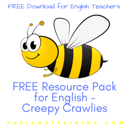 FREE Resource Pack for English - Creepy Crawlies
