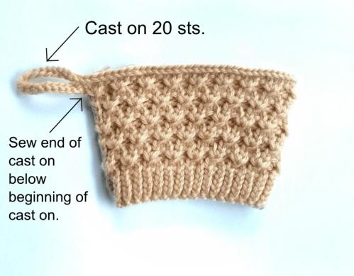 Diagonal knot mug instruction 1