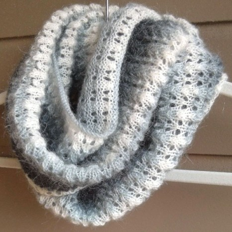 Simple Lace and Mohair Scarf