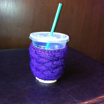 Woven Cable Coffee Cup Cozy