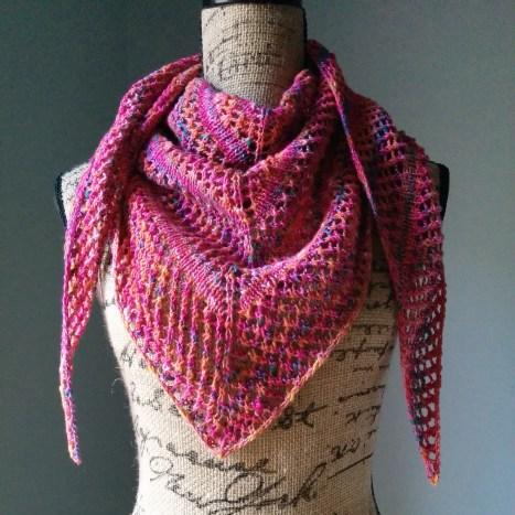 Casual Lace Knit Shawl